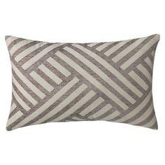 Threshold™ Oblong Basketweave Toss Pillow - Gray (14x21