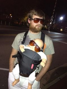 jason just don't wear a hat...borrow my sunglasses and wear a shirt with the baby on it from spencers!