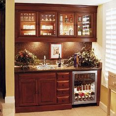 Home Mini Bar Ideas | Mini bar idea Found at http://www.pinterest.com/pin/39828777929467159/