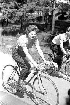 Valentina Tereshkova bicycling.