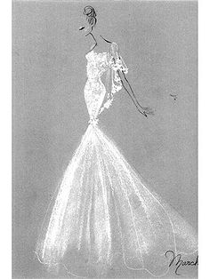 Gorgeous.. Molly Sim's wedding gown designed by Marchesa. Very close to my dream dress..