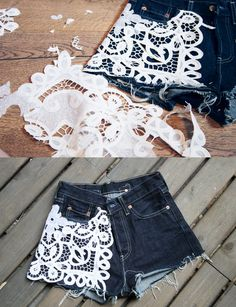 DIY lace shorts always wanted to make these
