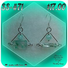 HANDMADE STERLING SILVER EARRINGS. **$17.00 USD**  ♥ made with love ♥ By: MUSICK'S HANDMADE JEWELRY, CRAFTS & THRIFTY BUYS.  These earrings are FOR SALE! I accept PayPal. I DO SAME-DAY SHIPMENTS (unless after business hours) I OFFER A 100% SATISFACTION GUARANTEE. If you are NOT 100% SATISFIED with any of my items, please return them for a FULL REFUND WITHOUT HASSLE OR QUESTIONS.  I LOVE FEEDBACK, whether its good or bad. I listen to & take into consideration, every opinion that is given to…
