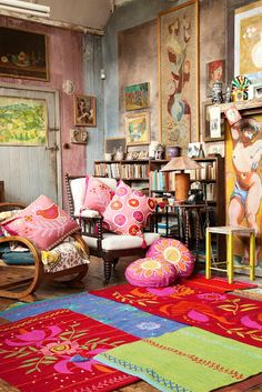 Find This Pin And More On Home ❤ La Casa By Pintereski. Colourful Bohemian  Textiles Rugs Cushions By Gudrun Sjoden. Bohemian Interior ...