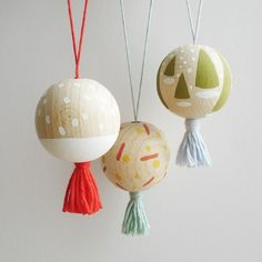 Wood ball ornaments