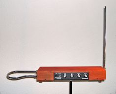 The Theremin is one of the strangest experimental musical instruments ever.  It uses electricity to produce sound. It's controlled without physical contact by the performer.