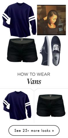 Polyvore featuring Vans
