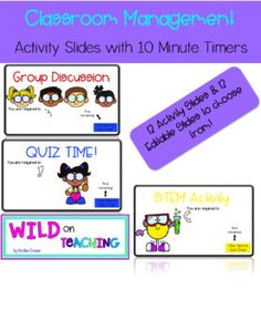 Class Management Activity Slides with Timers