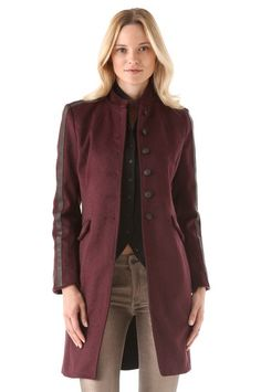 With its rich burgundy hue, this Rag & Bone Maharaja Coat ($895) nails two trends at once.