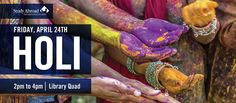 During the afternoon on Friday the 24th of April, 2015, the Office of Study Abroad will be hosting the third annual HOLI: FESTIVAL OF COLORS from 2 p.m. to 4 p.m. in the Library Quad of Eastern Illinois University. Admission is FREE, so come out and celebrate the spring season with us in an explosion of color and friendship.