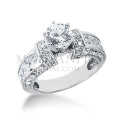 Check out the deal on Antique Style Gorgeous moissanite engagement ring at MoissaniteBridal.com