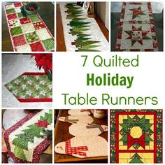 7 Quilted Holiday Table Runners