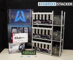 Geldfabriek FABRIXX Stacker 18 GPU mining rig detailed