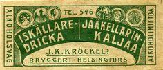 #olut #etiketit #jääkellari #kalja #Kröckel #Helsinki
