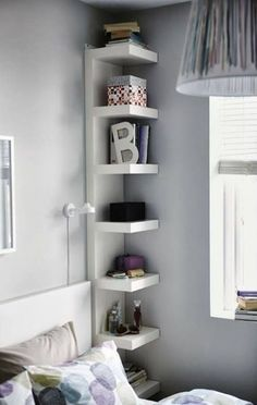 Just a little, tiny shelf. perfect for books or dvds... or both!