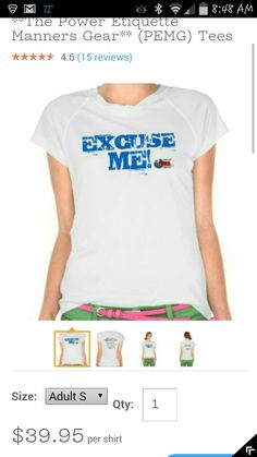 Our PEMG ETIQUETTE T SHIRTS ARE AVAILABLE. . . CHECK THEM OUT and LOOK FOR MORE APPAREL TO COME.