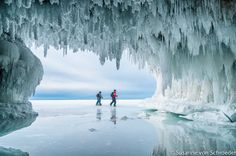 Apostle Islands Ice Cave Great Lakes by SoulCenteredPhotoart