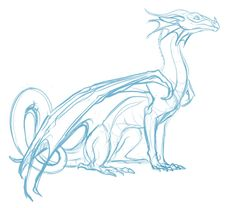 quick doodle of Glory from Wings of Fire colors later Animal Sketches, Animal Drawings, Art Sketches, Wings Of Fire Dragons, Cute Dragons, How To Draw Dragons, Dragon Poses, Dragon Anatomy, Dragon Artwork