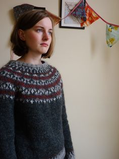 Ravelry: Project Gallery for Ásta Sóllilja pattern by Kate Davies Fair Isle Knitting Patterns, Fair Isle Pattern, Crochet Cross, Knit Crochet, Crochet Patron, Icelandic Sweaters, Hand Dyed Yarn, Knitting Projects, Hand Knitting