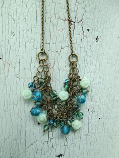 Necklace  Waterfall by lesliejanson on Etsy, $60.00