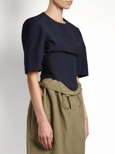 Click here to buy Stella McCartney Round-neck corset-panel top at MATCHESFASHION.COM