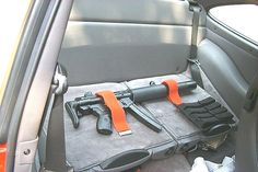 Bad idea… The post Wanna hide a gun in your car? Here's a few ideas Photos) appeared first on . Weapon Storage, Gun Storage, Hidden Storage, Storage Ideas, Home Defense, Self Defense, Rifles, Hidden Gun, Bug Out Vehicle