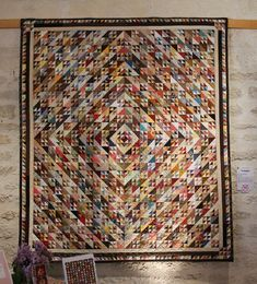 Quilts In The Barn: Quilts De Legende Brouage 2013 - Triangles by Maryvonne Marmion.