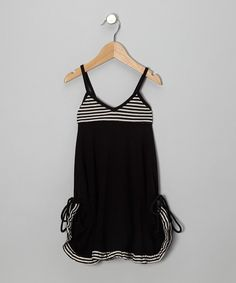 Take a look at this Black Chantel Dress - Toddler & Girls on zulily today!
