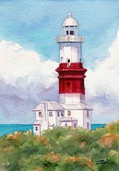 Zeh Original Art Blog Watercolor and Oil Paintings: lighthouse