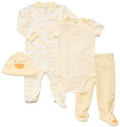 Carter`s Unisex Newborn 4 Piece Ducky Layette Set - Listing price: $26.00 Now: $14.99