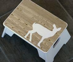 Mod Podge deer stool