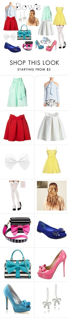 """Bows"" by itchy27 ❤ liked on Polyvore featuring Matthew Williamson, Erdem, WithChic, Chicwish, Hershesons, Betsey Johnson, Valentino, Fabulicious, DB Designs and Laura Ashley"