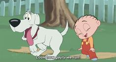 Look how gayly we run! Disney Universe Stewie and Brian. Click to see the GIF