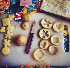 Aardappelen stempelen