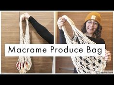 In this video I show you guys how I made this really cute zero waste produce bag! I take you through a step by step process of hand knotting this macr. Macrame Bag, Macrame Knots, Knitting Projects, Sewing Projects, Diy Macrame Wall Hanging, Make Your Own Game, Macrame Patterns, Macrame Plant Hanger Patterns, Produce Bags