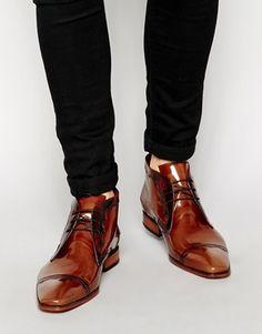 Jeffery West Brogue Short Boots