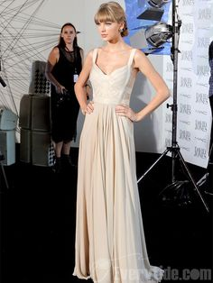 Long White with Lace Celebrity Gown by Taylor Swift $125.99