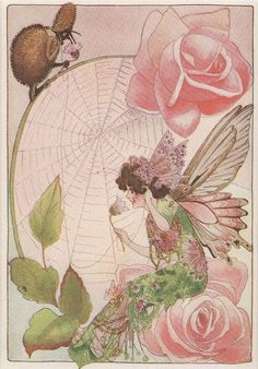 themagicfarawayttree:  1914 Antique The Fairies' Telephone Print by M.T. Penny Ross