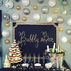 Large sign in made to order colors for a bubbly bar