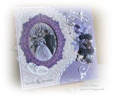 pipserier: Et Bryllupskort i lilla.