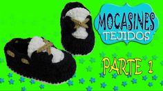 Zapatos mocasines clásicos tejidos a crochet  | parte 1/2