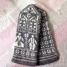 ラトビアのおばあちゃんが編んだミトン スウィートホーム by HAND KNITTED MITTENS