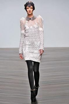 Bora Aksu FW2013-this dress is simultaneously Edwardian & futuristic.