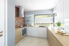 Parterowy dom z zadaszonym tarasem i garażem - Studio Atrium House Plans, Home Decor Kitchen, Mountain Home, Kitchen Decor, Home, House, Kitchen Cabinets, Furniture, Kitchen Inspirations