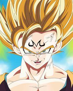 majin goku by Prince Edami Dragon Ball, Bernardo, Anime, Princess Zelda, San, Fictional Characters, Graphic Art, Dragons