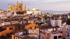a view over the roofs of Palma at sunset