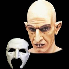 Our Nosferatu foam prosthetic mask appliance will transform you into the original movie vampire. Add a bald cap to complete the look (not included). This piece is made of foam latex and is professiona