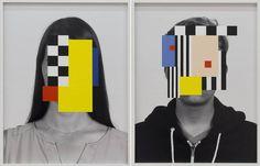 Portraits with Random Colors Hiding their Faces – Fubiz Media