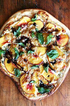 Nectarine Pizza recipe from Alexandra's Kitchen