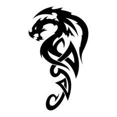 Tatouage dragon tribal 41